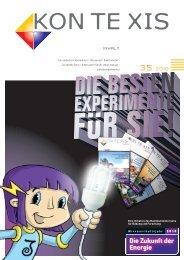 "Von ""schoko-science"" bis nanotechnologie - KON TE XIS"