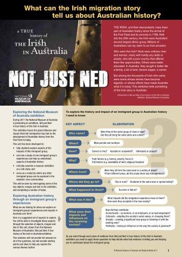 Not Just Ned – full colour (PDF 6.6 MB) - National Museum of Australia