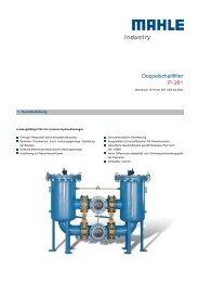 Doppelschaltfilter Pi 281 - MAHLE Industry - Filtration