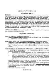 (Ed 2011.11.01) SERVIZI INTEGRATIVI EURONICS PROGRAMMA ...