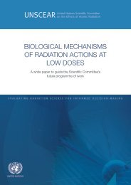 Biological mechanisms of radiation actions at low doses