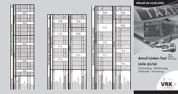 Linie 41/42 Anruf-Linien-Taxi