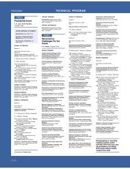TECHNICAL PROGRAM - American Chemical Society Publications