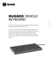 RUGGED VEHICLE KEYBOARD - Saab