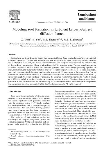 Modeling soot formation in turbulent kerosene/air jet diffusion flames