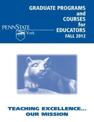 GRADUATE PROGRAMS and COURSES for EDUCATORS