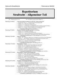Repetitorium Strafrecht - Allgemeiner Teil - Prof. Dr. Bernd Heinrich