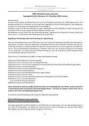 NRW-Netzwerk Frauen und Sucht 12. November 2009 - Bella Donna