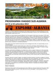 PROGRAMMA VIAGGIO SUD-ALBANIA - Off Road Web