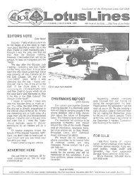 Nov-Dec - Evergreen Lotus Car Club