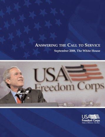 ANSWERING THE CALL TO SERVICE - Virginia Service