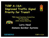 TCRP A-16A Overview_Head - Traffic Signal Systems Committee