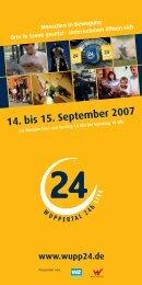 14. bis 15. September 2007 www.wupp24.de