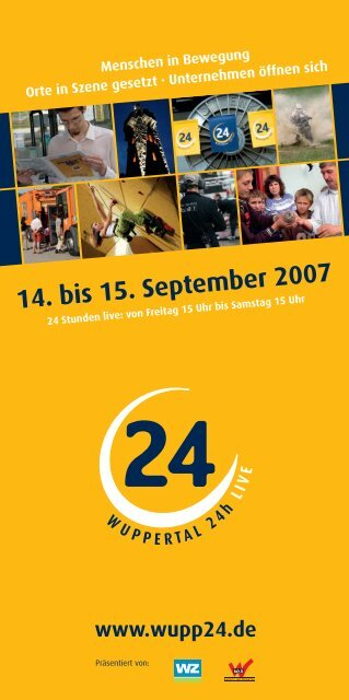 14. bis 15. September 2007 www.wupp24.de