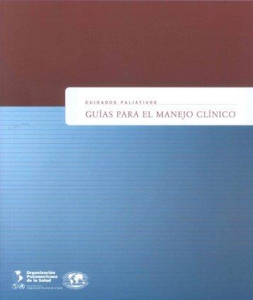 Cuidados paliativos: Guías para el manejo clínico - PAHO/WHO