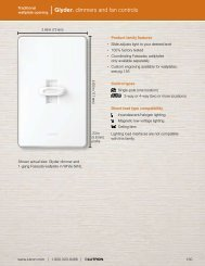 Glyder® dimmers and fan controls - Lutron