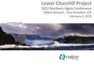 Mr. Gilbert Bennett - Vice President Lower Churchill Project, Nalcor ...
