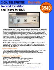 2-CH. TELEPHONE Rochelle Network Emulator and Tester for USB