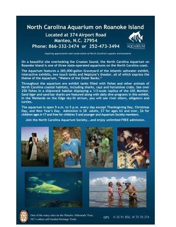 North Carolina Aquarium on Roanoke Island - Historic Albemarle Tour