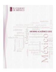 Informe Académico 2012 - El Colegio de México