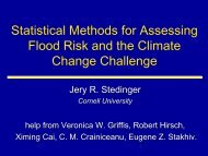Statistical Methods for Assessing Flood Risk and the Climate ...