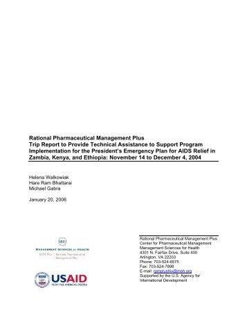 Rational Pharmaceutical Management Plus Trip ... - part - USAid