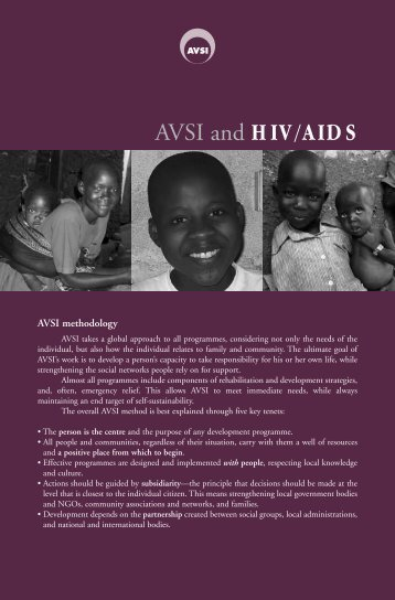 Pamphlet: AVSI and Hiv/Aids