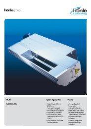 Produktinformation UVAPRINT ACM - Dr. Hönle AG