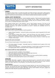 SAFETY INFORMATION - Wattyl Web Customer Service