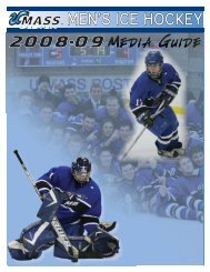 2008-09 UMass Boston Men's Ice Hockey Media Guide ... - Community