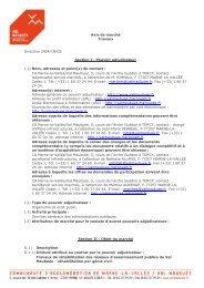 Travaux de réhabilitation des réseaux d'assainissement publics du ...
