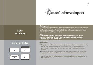 FSC® Envelopes Envelope Styles