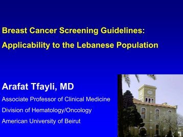 Latest breast cancer screening guidelines