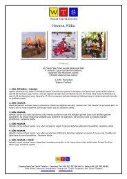 Bu turun PDF broşürünü almak için tıklayın. - World Travel Service