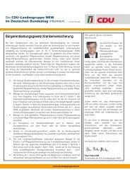 Bürgerentlastungsgesetz Krankenversicherung - Peter Hintze, CDU