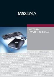 MAXDATA FAVORIT XS Series Handbuch Manual Ma- nuel ...