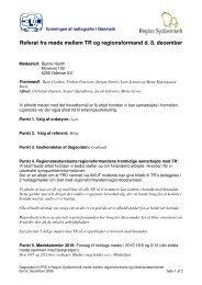 Referat fra TR-møde den 8. december 2009 - Foreningen af ...
