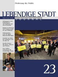 Journal 23 zum downloaden (PDF 3,5 MB - Lebendige Stadt