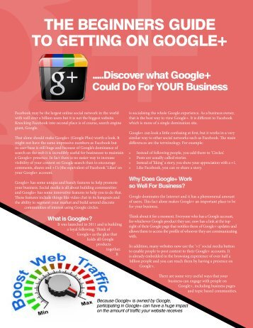 THE BEGINNERS GUIDE TO GETTING ON GOOGLE+
