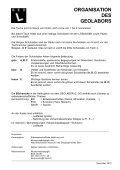 ORGANISATION DES GEOLABORS - Naturhistorisches Museum Bern - Page 4