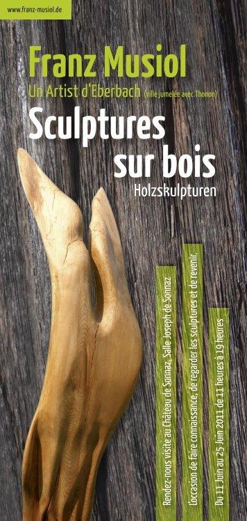 Franz Musiol Sculptures sur bois