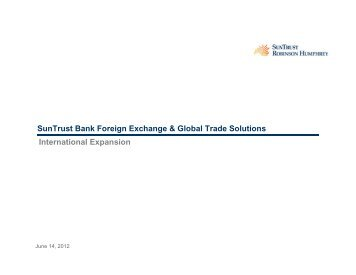 SunTrust Bank Foreign Exchange & Global Trade Solutions ... - Raffa