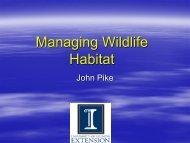 Managing for Wildlife