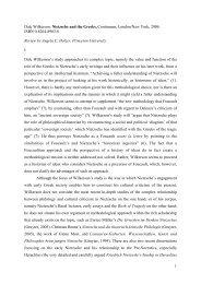 1 Dale Wilkerson: Nietzsche and the Greeks ... - Nietzsche Circle