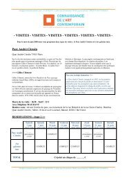 SortiesJuin2008.pdf - Connaissance de l'Art Contemporain