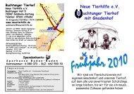 Neue Tierhilfe e.V. uchtunger Tierhof mit Gnadenhof