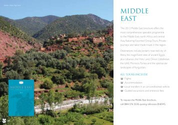 MIDDLE EAST - Cox & Kings