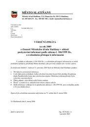 Výroční zpráva za rok 2005 - Slatiňany