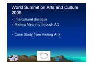World Summit on Arts and Culture 2009