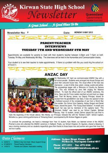 Newsletter_no_9_6-May-2013 - Kirwan State High School